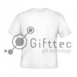 Футболка мужская белая Classic, синтетика/хлопок (сэндвич) р.48 (L) для сублимации 10843