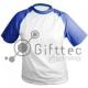 Футболка, голубые рукава, 100% п/э, 52 (XXL) 10865