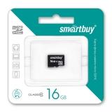 Карта памяти 16Gb micro SDHC Class10 SmartBuy 4607177552156