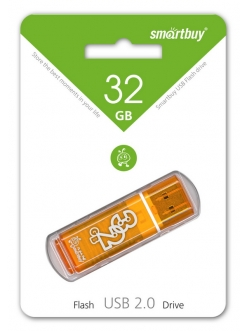 Флэш-карта 16Gb USB 2.0 GlossySeries Оранжевая SmartBuy 4690626001114