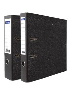 """Регистратор 50мм черный, мрамор """"OfficeSpace"""" 153194"""