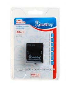 Картридер внешний универсальный <SBR-713-K> черный USB 2.0 SmartBuy SBR-713-K