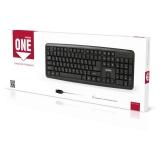Клавиатура проводная черная <SBK-112U-K> USB SmartBuy SBK-112U-K