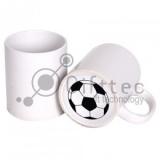 Кружка белая с печатью на дне FOOTBALL для сублимации 11500