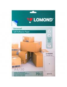 Самоклеящаяся бумага A4/50л.70г/м неделеная LOMOND 2100005